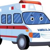 รถพยาบาลการ์ตูน