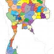 แผนที่ประเทศไทย 77 จังหวัด